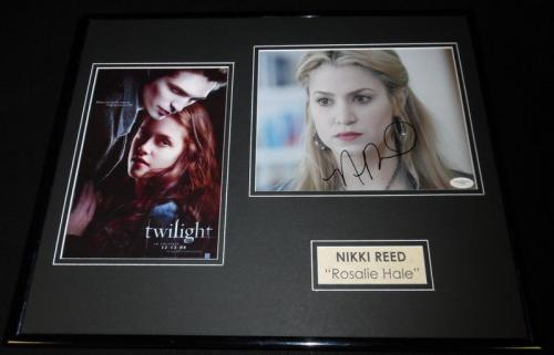 Nikki Reed Signed Framed 16x20 Photo Poster Display JSA Twilight