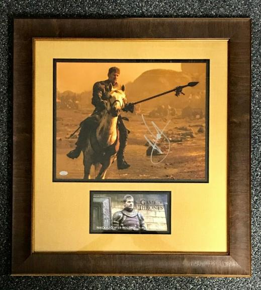 NIKOLAJ COSTER-WALDAU (Jaime-Game Of Thrones) signed custom framed display #2