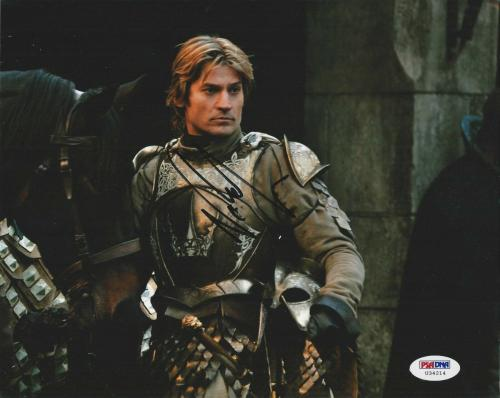 Nikolaj Coster Waldau signed 8X10 PSA/DNA # U34214