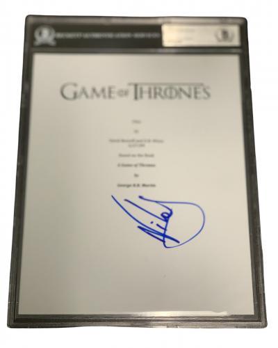 Nikolaj Coster-waldau Signed Aut0 Slabbed Game Of Thrones Full Script Beckett