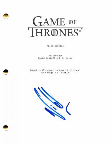 Nikolaj Coster-waldau Signed Autograph Game Of Thrones Full Pilot Script - Jamie