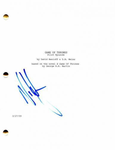 Nikolaj Coster-waldau Signed Autograph Game Of Thrones Full Pilot Script - Stud