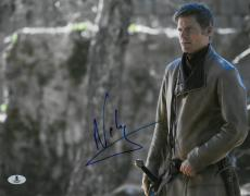 Nikolaj Coster Waldau Signed Game of Thrones Auto 11x14 Photo BECKETT #B10312