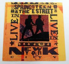 Nil Lofgren Signed Album-Sized Promo E Street Band Live in New York w/ AUTO