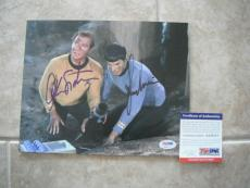 Nimoy Shatner Star Trek Spock Kirk Signed Autographed 8x10 Photo PSA Certified