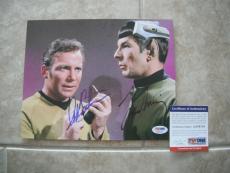 Nimoy Shatner Star Trek Spock Kirk Signed Autographed 8x10 Photo PSA Certified 2
