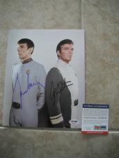 Nimoy Shatner Star Trek Spock Kirk Signed Autographed 8x10 Photo PSA Certified 3