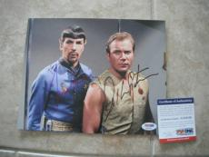 Nimoy Shatner Star Trek Spock Kirk Signed Autographed 8x10 Photo PSA Certified 4