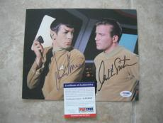 Nimoy Shatner Star Trek Spock Kirk Signed Autographed 8x10 Photo PSA Certified 5