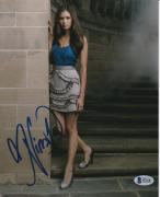 Nina Dobrev Signed 8x10 Photo The Vampire Diaries Beckett Bas Autograph Auto A
