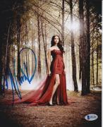 Nina Dobrev Signed 8x10 Photo The Vampire Diaries Beckett Bas Autograph Auto B