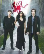 "NINA DOBREV - Stars as ELENA GILBERT on ""THE VAMPIRES DIARIES"" Signed 8x10 Color Photo"