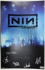 Nine Inch Nails Signed 11x17 Tour Poster [beside You In Time] Psa/dna Loa T11233
