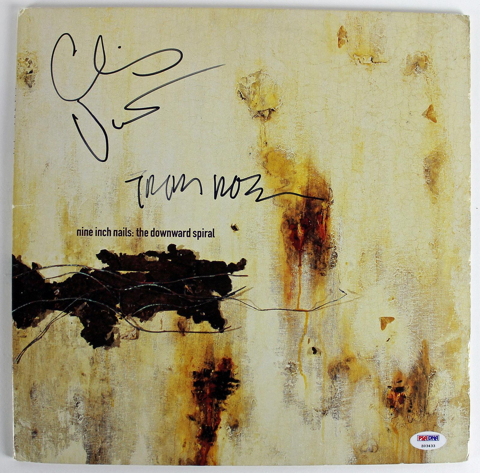 Nine Inch Nails Signed Downward Spiral Album Cover Reznor Vrenna Psa ...