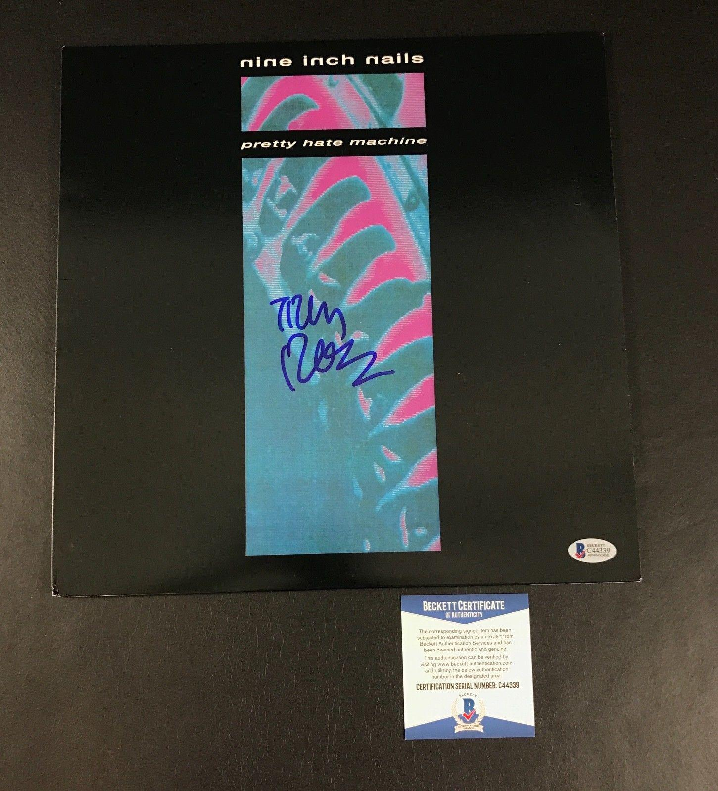 Nine Inch Nails Trent Reznor Signed Pretty Hate Machine Vinyl ...
