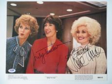 Nine(9) to Five(5) Signed 11x14 Lobby Card Parton/Fonda/Tomlin PSA/DNA #P92159
