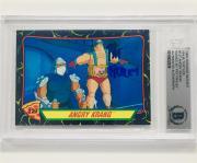"Ninja Turtles PAT FRALEY voice of ""Krang"" signed 1989 Topps TMNT card ~ BAS BGS"