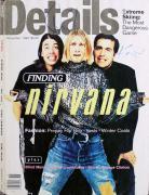 Nirvana (3) Cobain, Grohl & Novoselic Signed Details Magazine Cover BAS #A10778