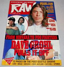 NIRVANA DAVE GROHL signed autographed RAW MAGAZINE BECKETT COA! FOO FIGHTERS