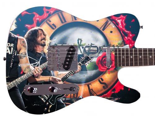 Nirvana Foo Fighters Dave Grohl Facsimile Signature  Custom Graphics Guitar