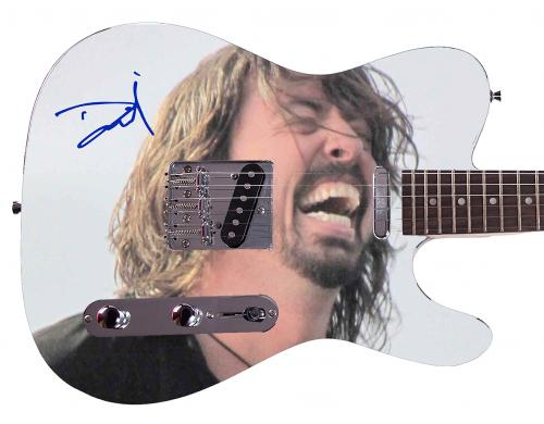 Nirvana Foo Fighters Dave Grohl Facsimile Signature  Custom Graphics Guitar