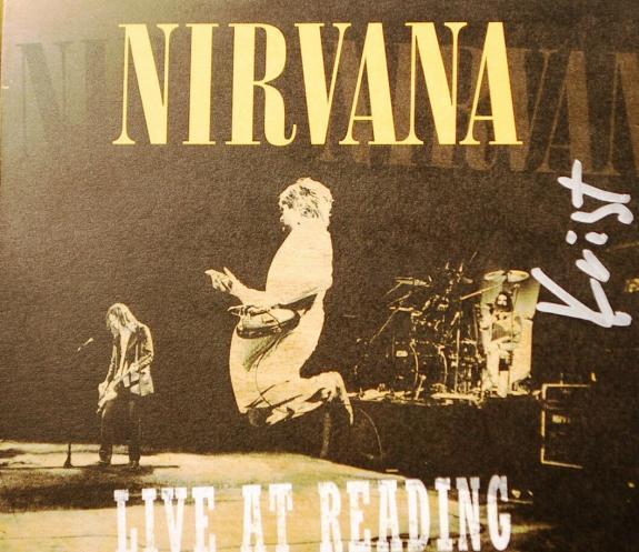 Nirvana Krist Novaselic Signed Live at Reading CD PSA/DNA AUTOGRAPH