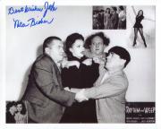 NITA BIEBER HAND SIGNED 8x10 PHOTO+COA      WITH THREE STOOGES      TO JOHN