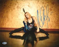 Nita Strauss Signed 11x14 Photo BAS Beckett COA Alice Cooper Guitar Autograph 10