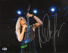 Nita Strauss Signed 11x14 Photo BAS Beckett COA Alice Cooper Guitar Autograph 11