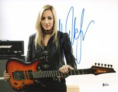 Nita Strauss Signed 11x14 Photo BAS Beckett COA Alice Cooper Guitar Autograph 12