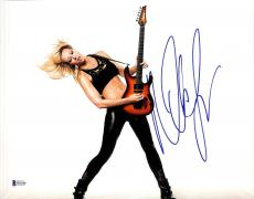 Nita Strauss Signed 11x14 Photo BAS Beckett COA Alice Cooper Guitar Autograph 7