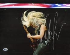 Nita Strauss Signed 11x14 Photo BAS Beckett COA Alice Cooper Guitar Autograph 8