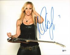 Nita Strauss Signed 11x14 Photo BAS Beckett COA Alice Cooper Guitar Autograph 9