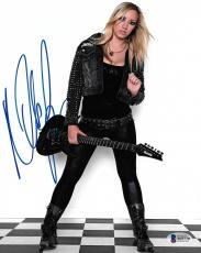 Nita Strauss Signed 8x10 Photo BAS Beckett COA Alice Cooper Guitar Autograph 1