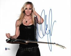 Nita Strauss Signed 8x10 Photo BAS Beckett COA Alice Cooper Guitar Autograph 12