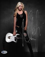 Nita Strauss Signed 8x10 Photo BAS Beckett COA Alice Cooper Guitar Autograph 2
