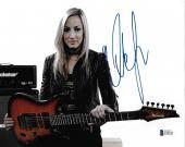 Nita Strauss Signed 8x10 Photo BAS Beckett COA Alice Cooper Guitar Autograph 5
