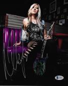 Nita Strauss Signed 8x10 Photo BAS Beckett COA Alice Cooper Guitar Autograph 8