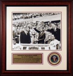 Richard Nixon Framed 16x20 Photo with Presidential Patch