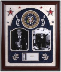 Framed Richard Nixon Cut Signature Collage