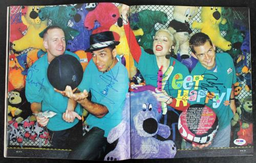 No Doubt (4) Stefani, Kanal, Dumont, Young Signed Spin Magazine PSA/DNA #AB10722