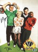 No Doubt (4) Stefani, Young, Kanal & Dumont Signed 8x10 Photo BAS #A11021