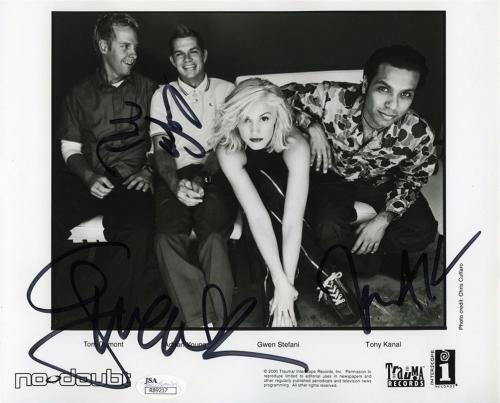 No Doubt Band Autographed Signed 8x10 Photo Certified Authentic JSA COA