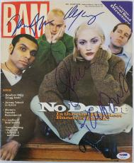 No Doubt Band Signed 1997 BAM Magazine (Gwen Stefani +4) PSA/DNA LOA #AC02157