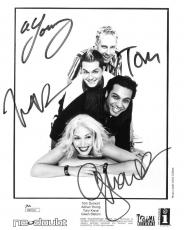 No Doubt Group Signed Authentic Autographed 8x10 B/W Photo JSA #R89218