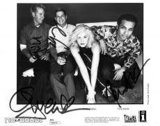 No Doubt Group Signed Authentic Autographed 8x10 B/W Photo JSA #R89219