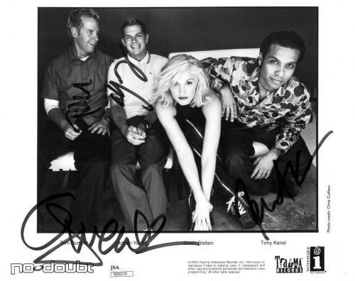 No Doubt Group Signed Authentic Autographed 8x10 B/W Photo JSA #R89219