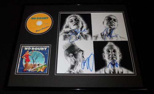 No Doubt Group Signed Framed 16x20 Tragic Kingdom CD & Photo Display