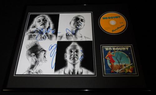 No Doubt Group Signed Framed 16x20 Tragic Kingdom CD & Photo Set