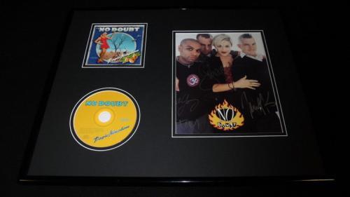 No Doubt Group Signed Framed 16x20 Tragic Kingdom CD & Photo Set JSA